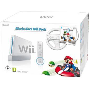 Console wii blanche nintendo wiimote plus mario kart wii volant console de jeux achat - Console 3ds xl blanche avec mario kart 7 ...