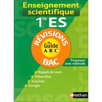 Le guide ABC Bac Cours et exercicesGuide abc enseig sci 1re es re