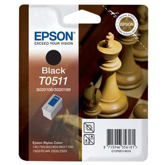 Cartouche Epson T0511noire (S020108 + S020189) QuickDry