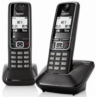 Téléphone fixe SIEMENS GIGASET A420 NOIR DUO SANS REPONDEUR