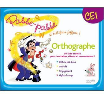 Passe Passe Orthographe Ce1