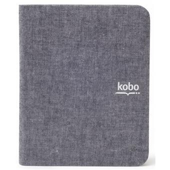 Kobo Etui Sleep Folio pour liseuse numérique Kobo by Fnac Mini - Tweed Gris