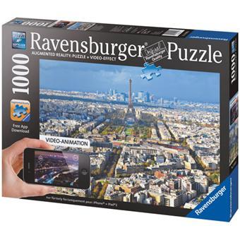 ravensburger puzzle r alit augment e sur les toits de paris 1000 pcs 1000 pi ces achat. Black Bedroom Furniture Sets. Home Design Ideas