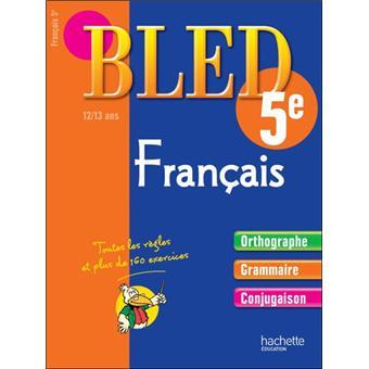 Cahier Bled Francais 5eme