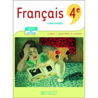 Textocollege 4e Francais Livre De L Eleve