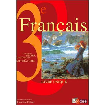 Francais 3e Livre Unique Manue