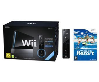 console wii noire nintendo wiimote plus wii sports. Black Bedroom Furniture Sets. Home Design Ideas