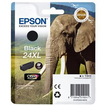 Cartouche d'encre Epson Série Eléphant 24 XL - Noire