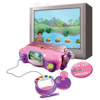 Console V Smile Rose Vtech Jeu Dora L Exploratrice