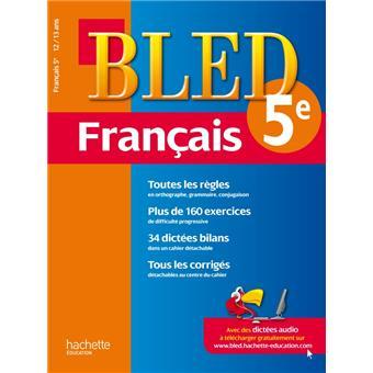Cahier Bled Francais 5e 12 13 Ans
