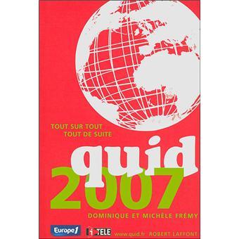 Quid Edition 2007 - relié - Collectif - Achat Livre   fnac