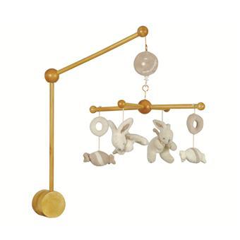 doudou et compagnie mobile musical bois lapin bonbon taupe jeu d 39 veil achat prix fnac. Black Bedroom Furniture Sets. Home Design Ideas