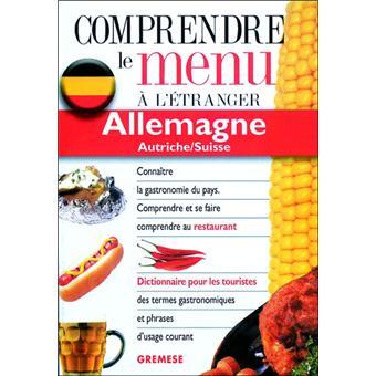 Allemagne autriche/suisse. comprendre le menu a l'etranger
