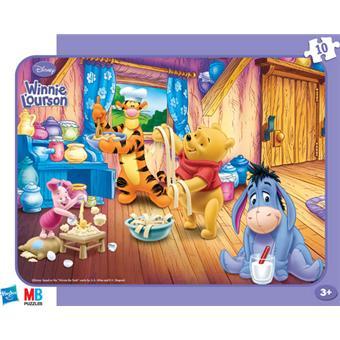 Hasbro Mb Puzzles Winnie L Ourson Tous A La Cuisine 10 Pieces