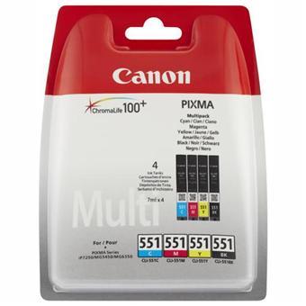 Cartouches d'encre ChromaLife 100+ Canon Pixma CLi-551 - Pack de 4 couleurs (6509B008)