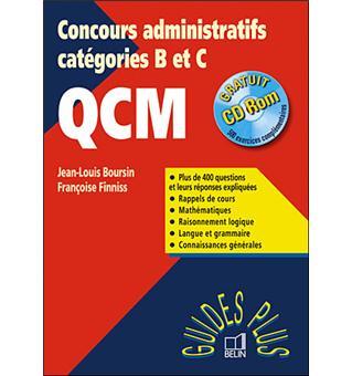 6fbc1815943 Guide des concours administratifs Catégorie C avec QCM Avec CDRom ...