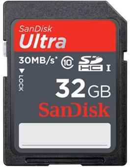 carte sd 32 go fnac SanDisk Carte mémoire Ultra SDHC 32 Go Class10   30 Mo/s UHS I