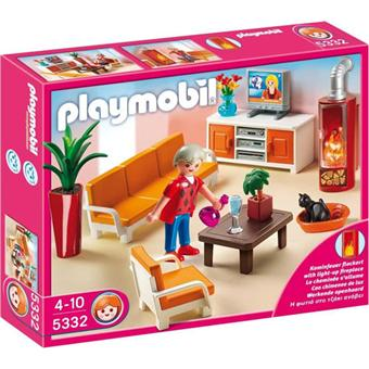 playmobil 5332 salon avec chemin e playmobil achat prix fnac. Black Bedroom Furniture Sets. Home Design Ideas
