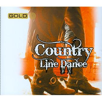 Country line dance - Gold metal box