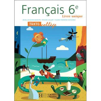 Textocollege 6e Francais Livre De L Eleve
