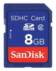 SanDisk Carte mémoire Blue Line SDHC 8 Go Class2