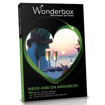 wonderbox coffret week end en amoureux coffrets cadeaux achat prix fnac. Black Bedroom Furniture Sets. Home Design Ideas