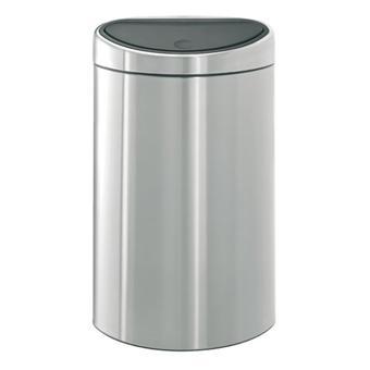 brabantia 348549 poubelle touch bin 40 litres matt. Black Bedroom Furniture Sets. Home Design Ideas