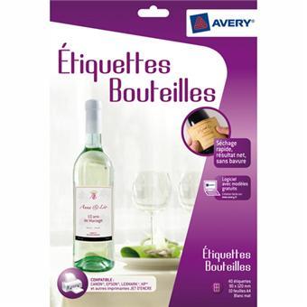 Avery Kit étiquettes bouteilles C9269-10