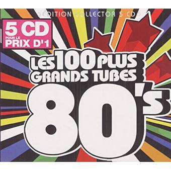 Les 100 plus grands tubes 80's - Digipack