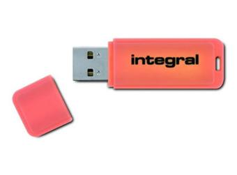 Integral Neon Orange - Clé USB 8 Go