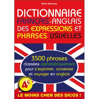 Dictionnaire Francais Anglais Des Phrases Et Expressions Usuelles