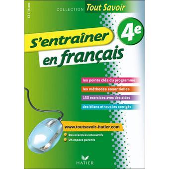 S Entrainer En Francais 4e Tout Savoir