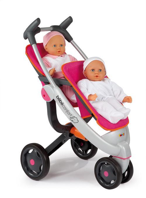 4837337d73fab Smoby Bébé Confort Poussette Twin - Poussette de poupée - Achat   prix
