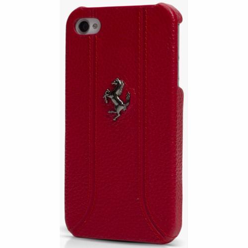 Ferrari Coque cuir pour iPhone 5 Rouge