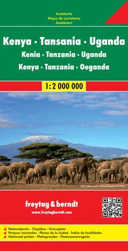 Kenya tanzanie ouganda 1:2 000 000