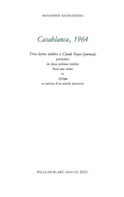Casablanca, 1964