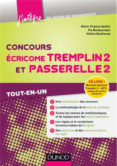 Concours Écricome Tremplin 2 et Passerelle 2 - 3e éd. - Tout-en-un