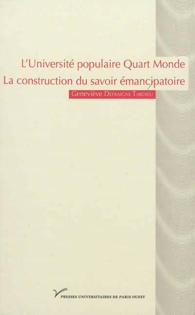 L'Université populaire Quart Monde : la construction du savoir émancipatoire