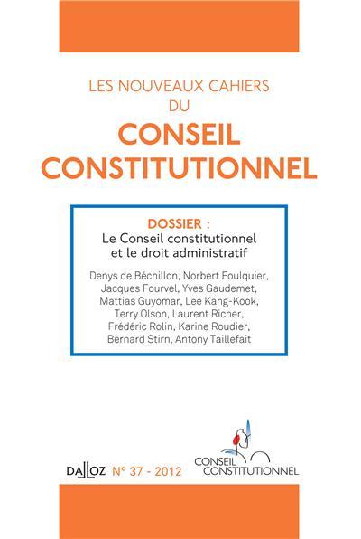 Les cahiers du conseil constitutionnel