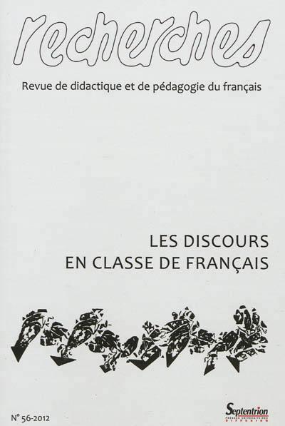 Les discours en classe de français