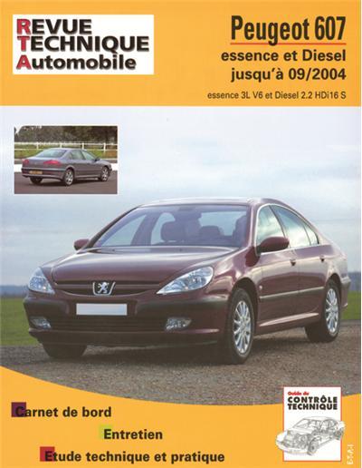 Revue technique automobile B708.5 Peugeot 607 05/00>07/04 essence Diesel
