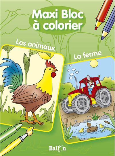 Maxi bloc a colorier les animaux / la ferme