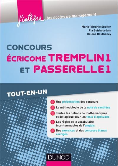 Concours Écricome Tremplin 1 et Passerelle 1 - 3e éd. - Tout-en-un