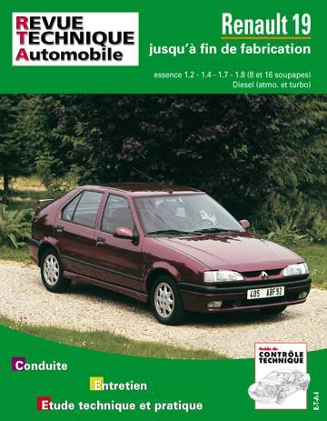 Revue technique automobile 700.3 Renault 19 essence & Diesel