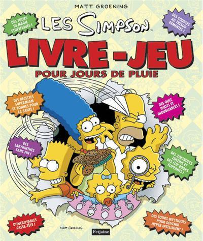 Les Simpson Les Simpson Livre Jeu Pour Jours De Pluie