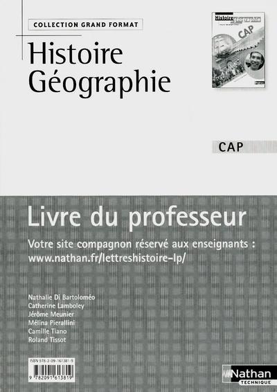 Histoire et Géographie - Éducation civique Livre du professeur Grand Format Livre du professeur