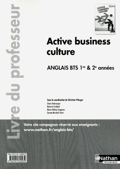 Active business culture - BTS 1re et 2e années > B2 Anglais Livre du professeur