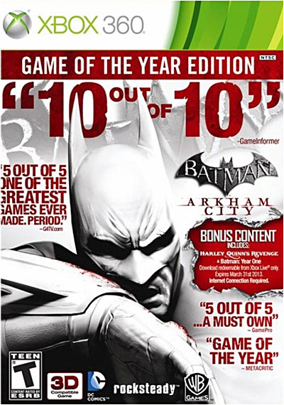 Batman Arkham City - Game Of The Year Edition - Xbox 360