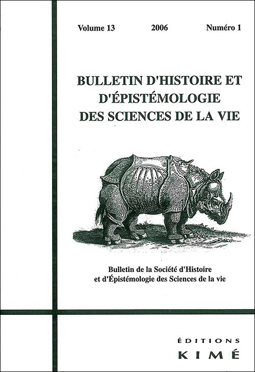 Bulletin d'épistemologie et d'histoire des sciences de la vie