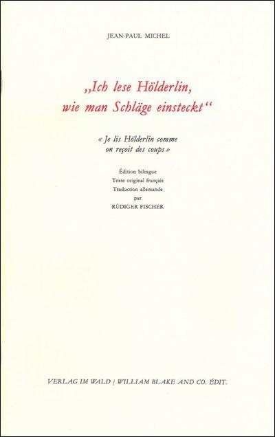 Ich Lese Holderlin, Wie Man Schlage Einsteckt